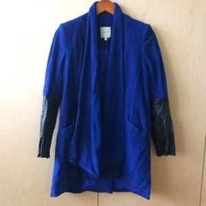 Mason sz 0 wool lambkins & polymide coat blue